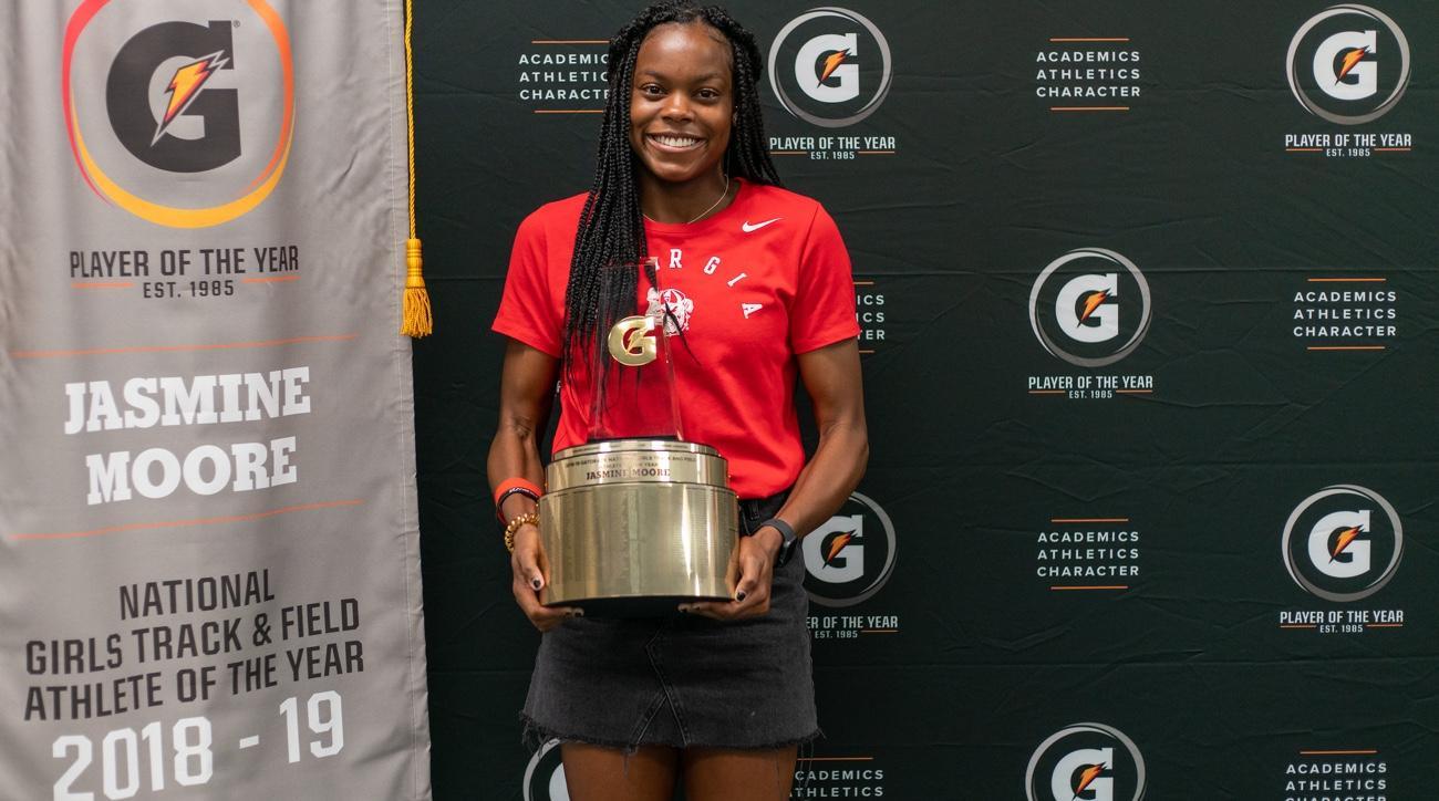 jasmine moore gatorade track athlete of the year