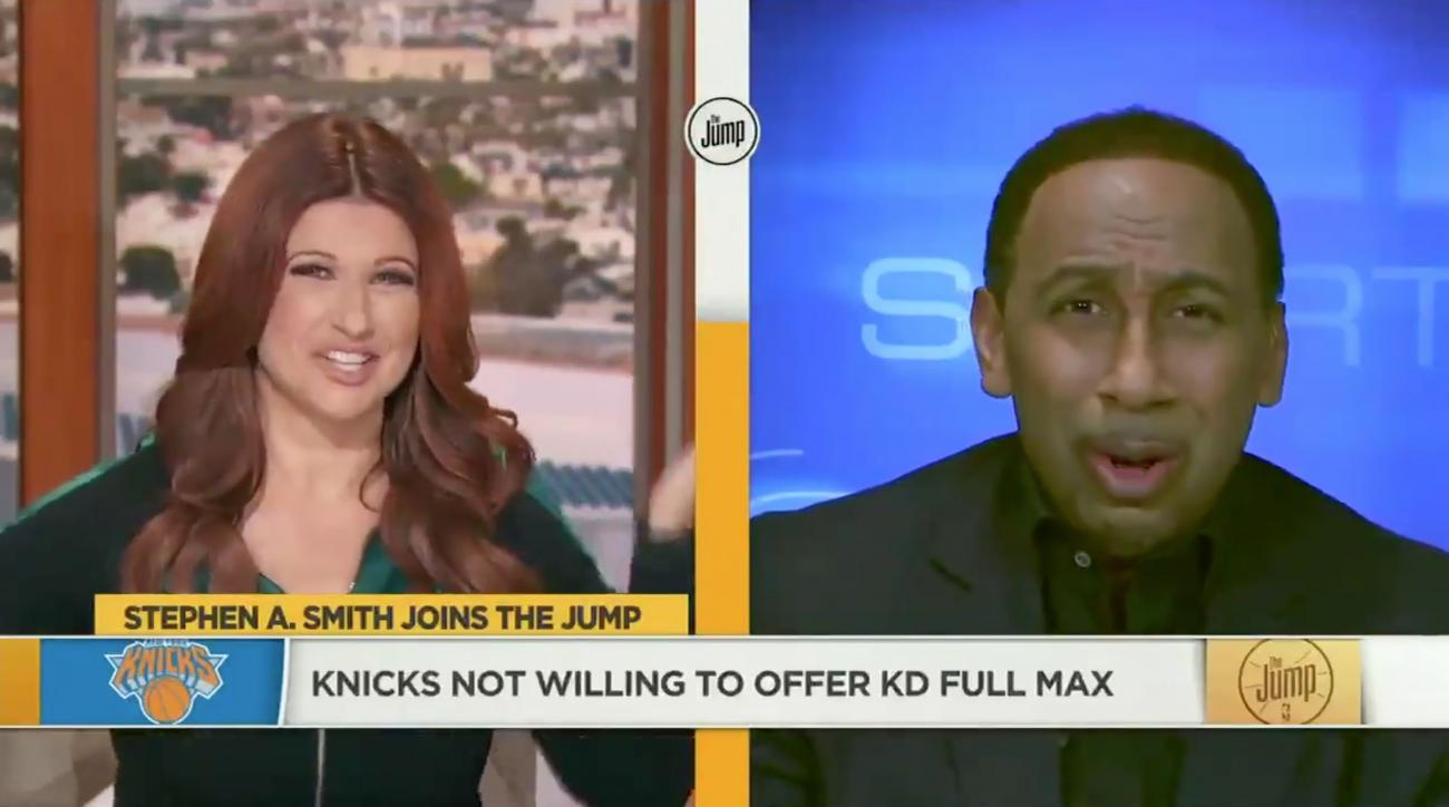 Stephen A. Smith reacts to Knicks free agency