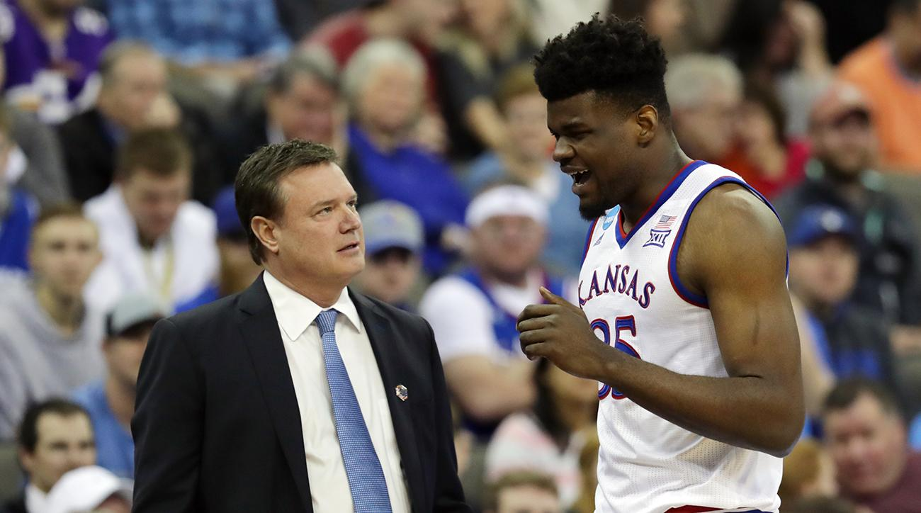 Udoka Azubuike and Bill Self