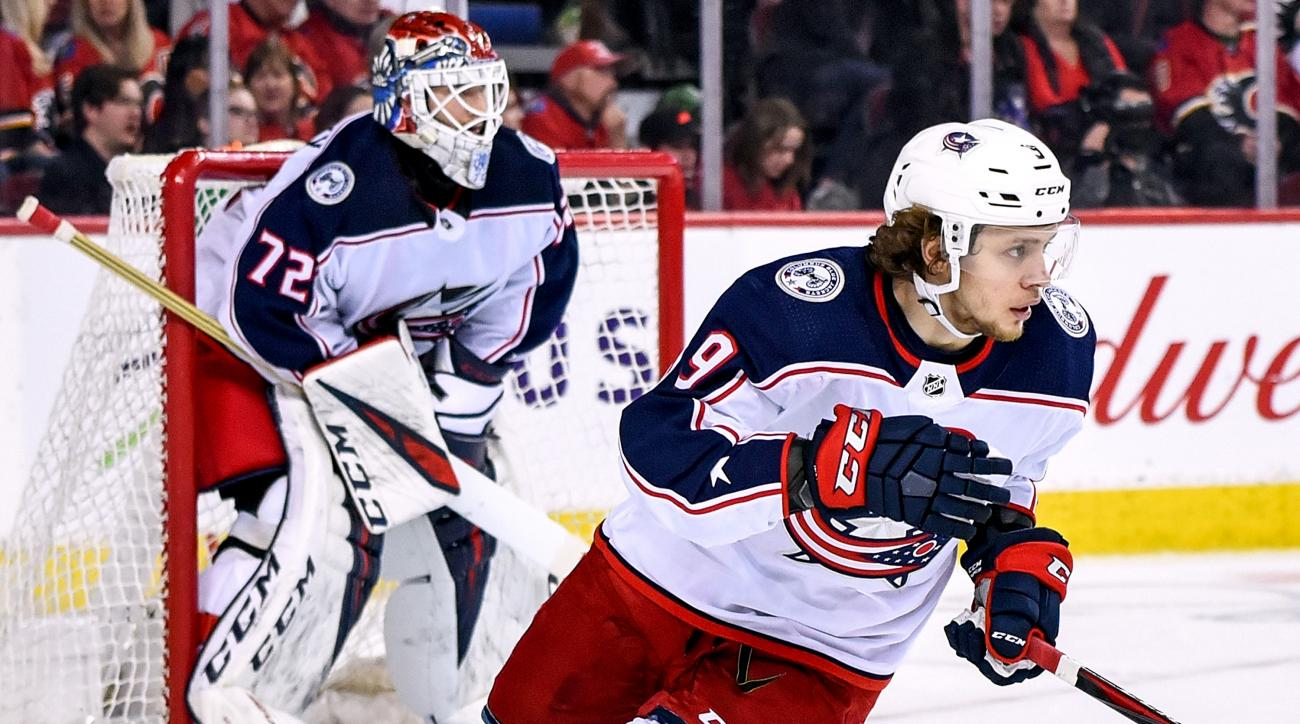 NHL: MAR 19 Blue Jackets at Flames
