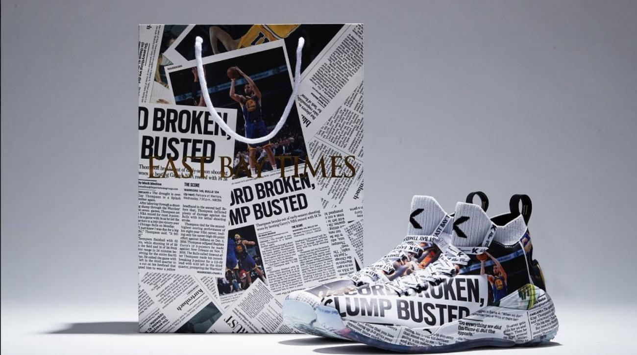 Klay Thompson sneakers have newspaper design in honor of