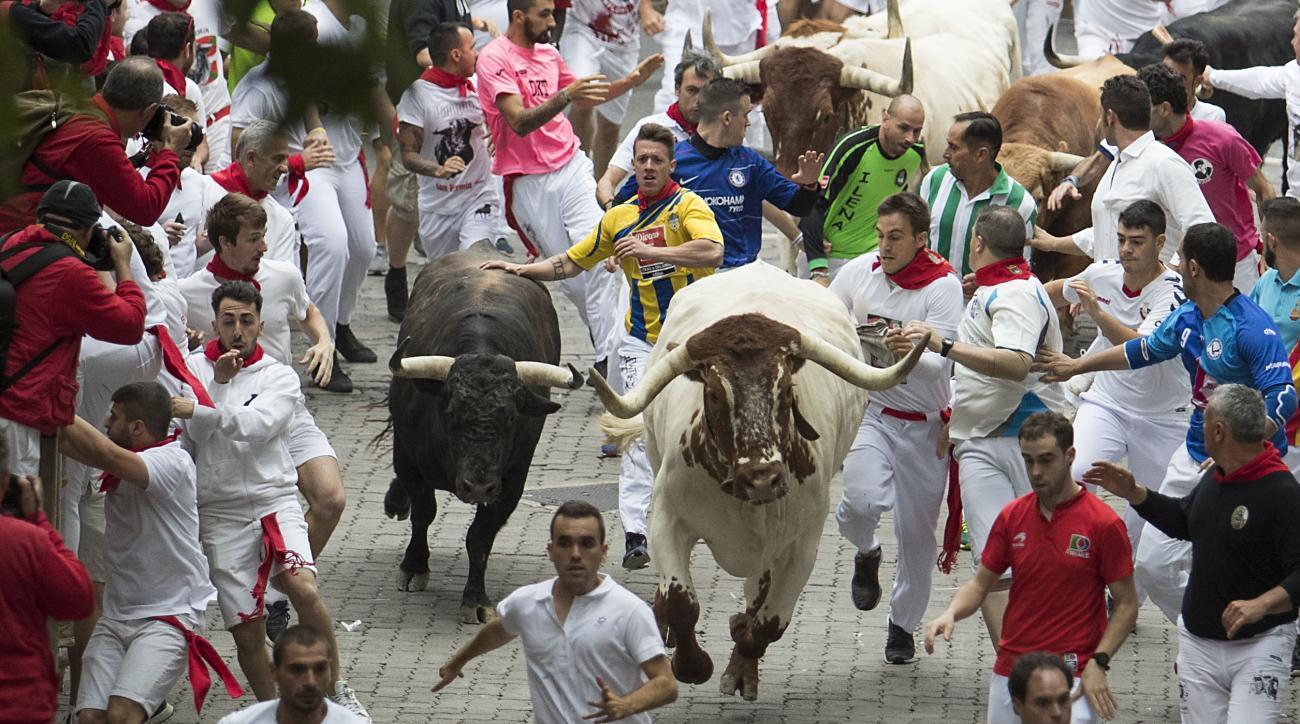 Three gored during running of the bulls