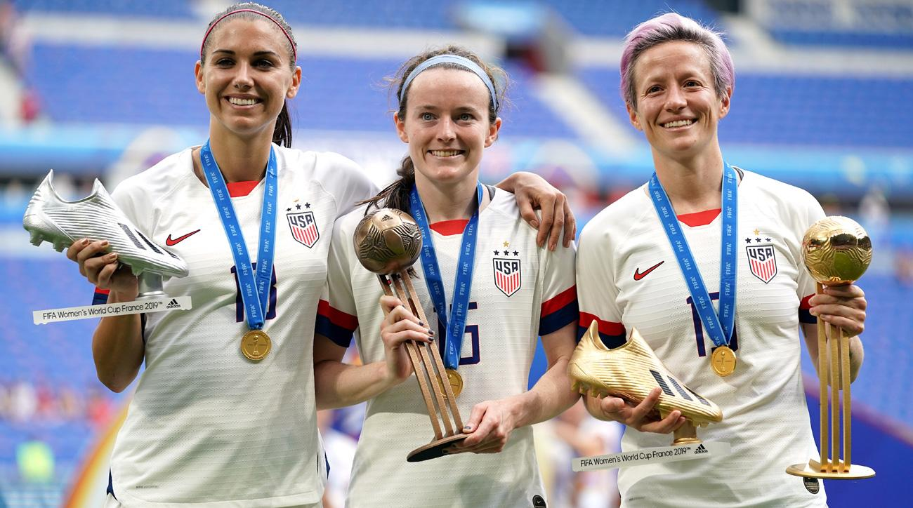 Alex Morgan, Rose Lavelle and Megan Rapinoe were influential in the Women's World Cup final