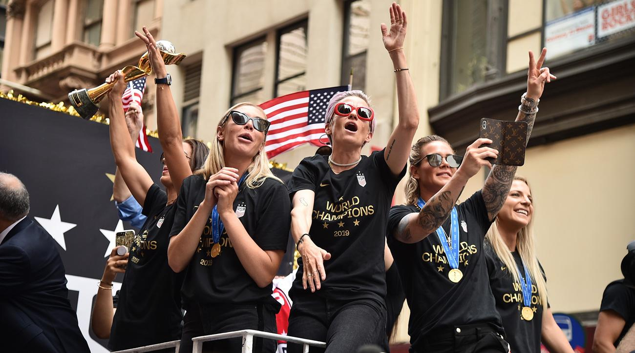 The USWNT celebrates a fourth Women's World Cup title with a parade in New York City