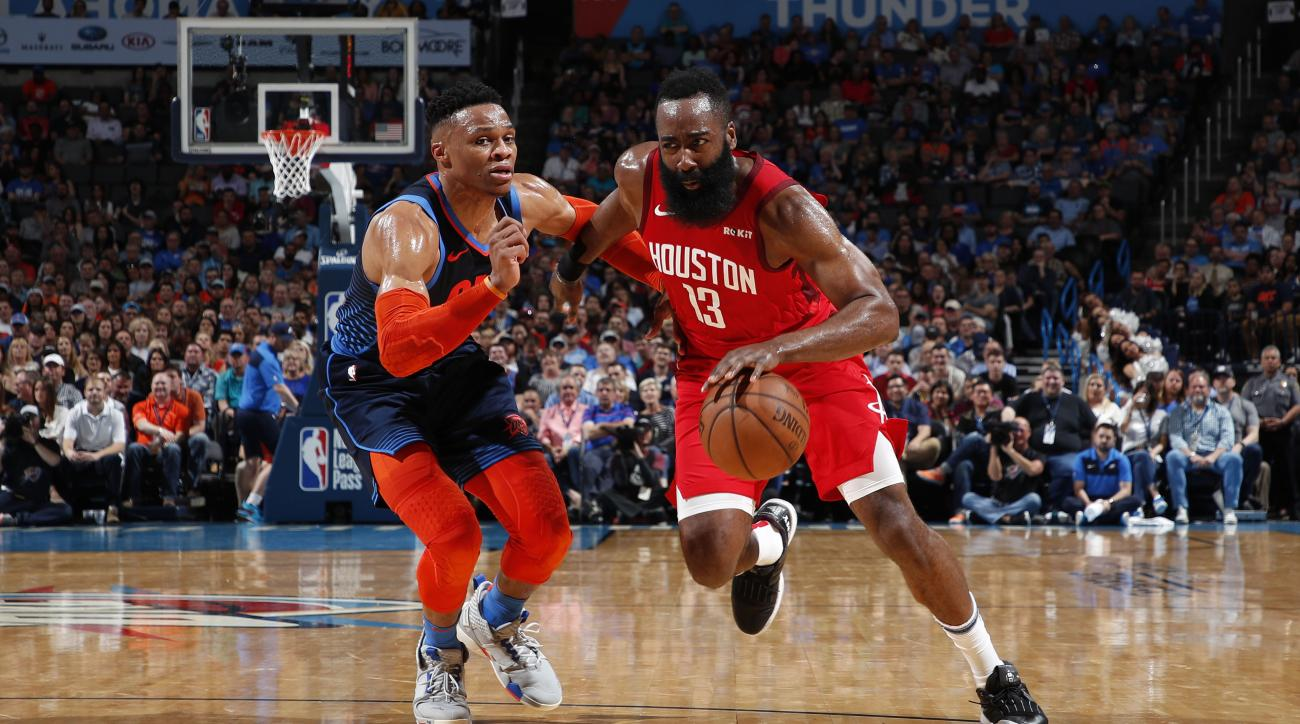 RUssell Westbrook joins James Harden on the Rockets