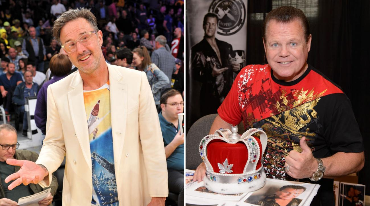 David Arquette wrestling Jerry Lawler at show in Poughkeepsie