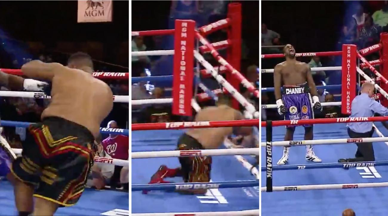 Heavyweight Joel Caudle knocked out of ring