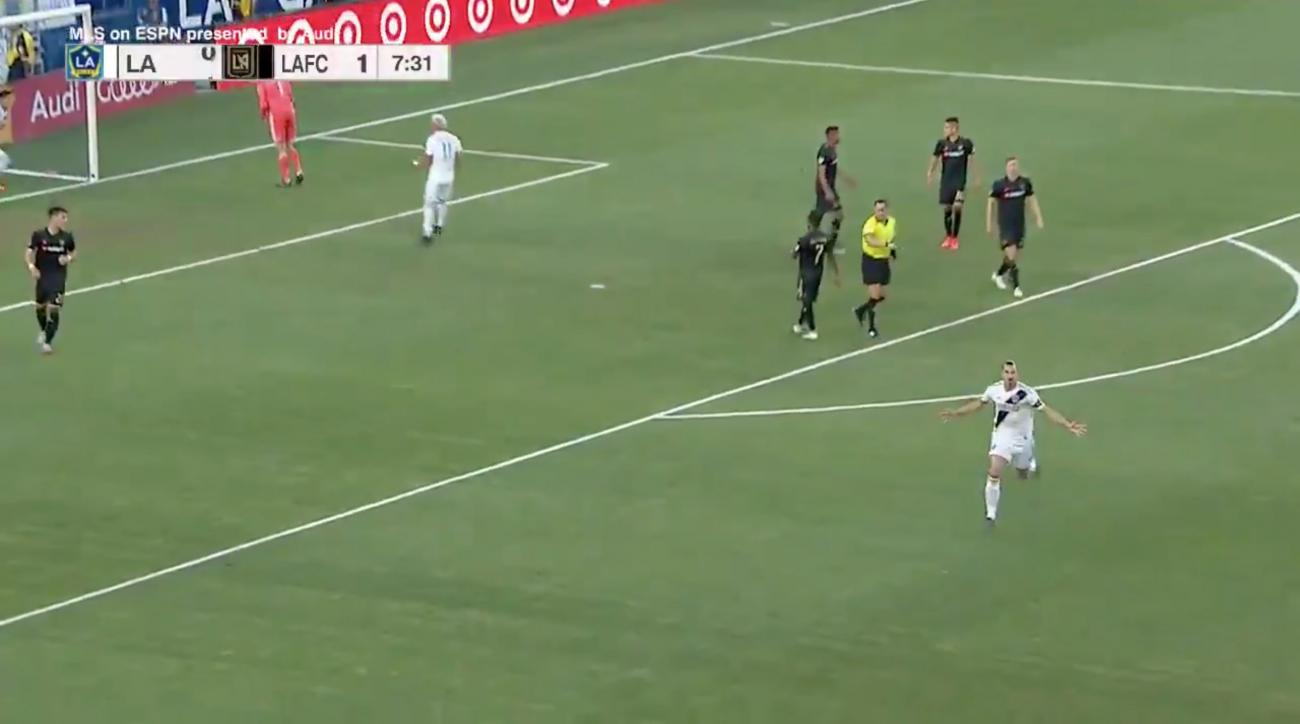 Zlatan Ibrahimovic lights up MLS with 'perfect hat-trick' in LA derby