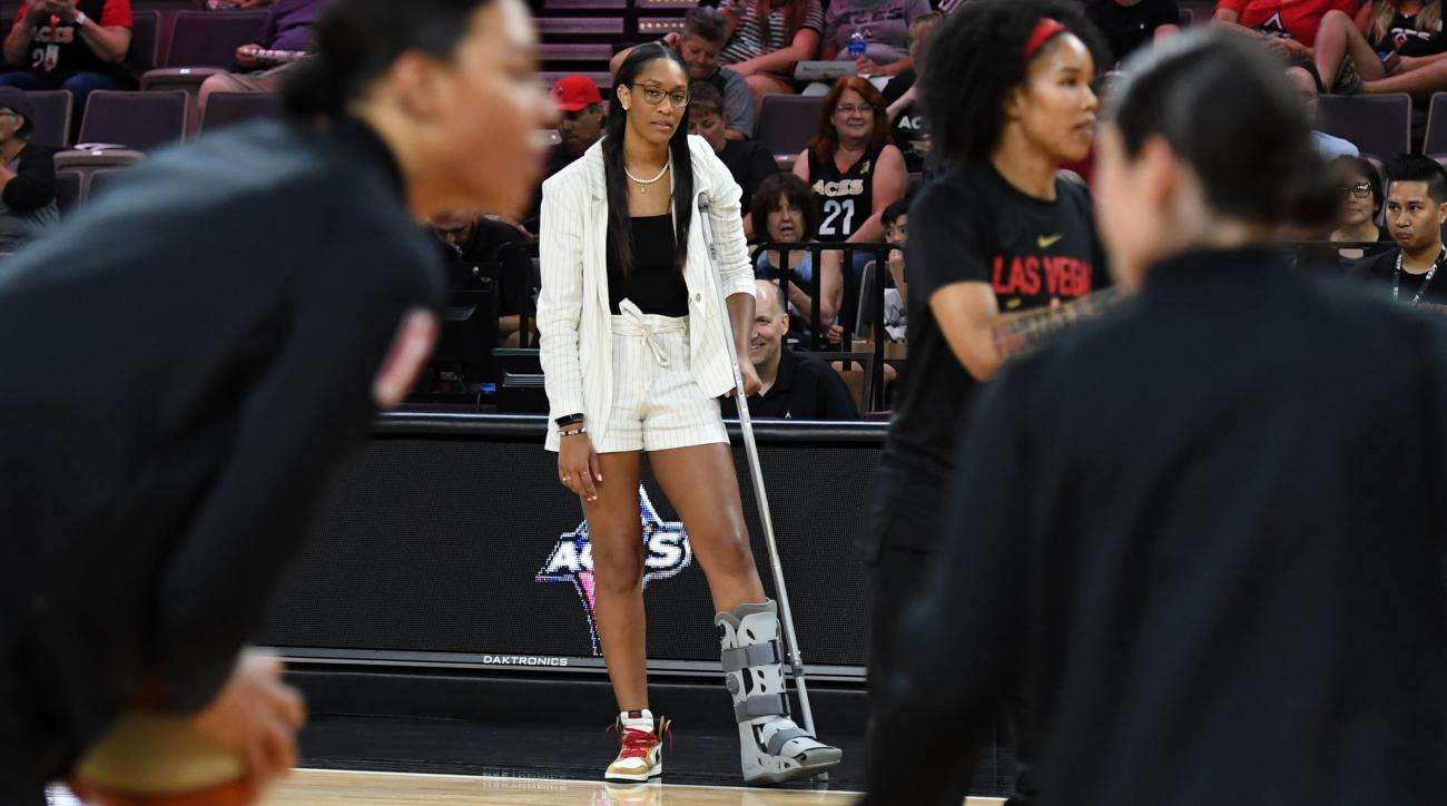 Las Vegas Aces' A'ja Wilson Likely Out for 'Weeks' With Injury