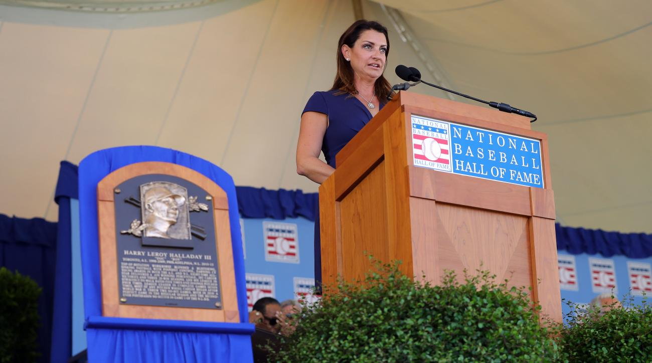 Brandy Halladay Hall of Fame speech for Roy