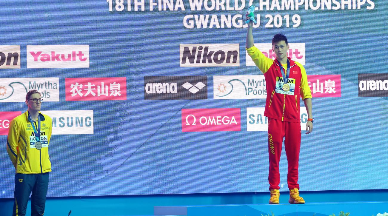 olympics, australia, Mack Horton, china, Sun Yang, 2019 World Aquatics Championships, wire