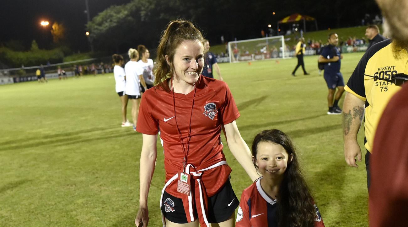 USWNT's Rose Lavelle Meets Young Girl Named Rose Lavelle