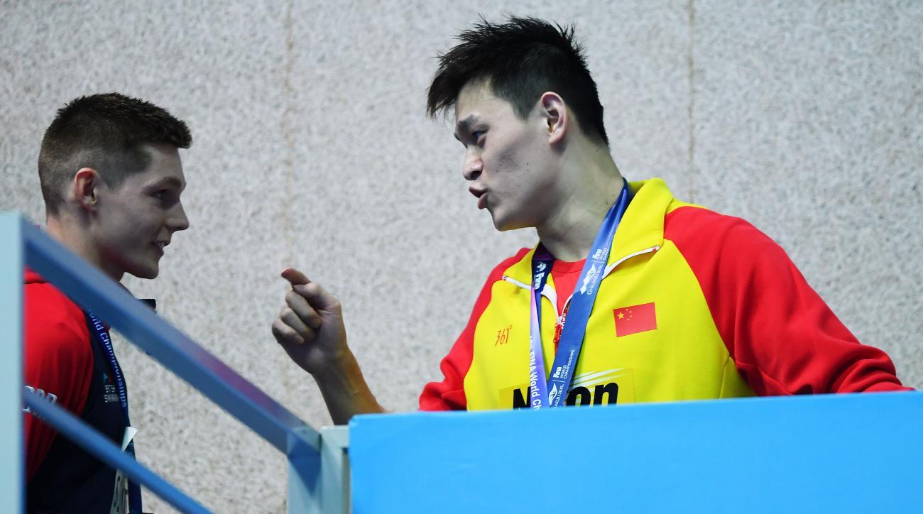 olympics, Mack Horton, sun yang, 2019 world swimming championships, Danas Rapsys, duncan scott, wire