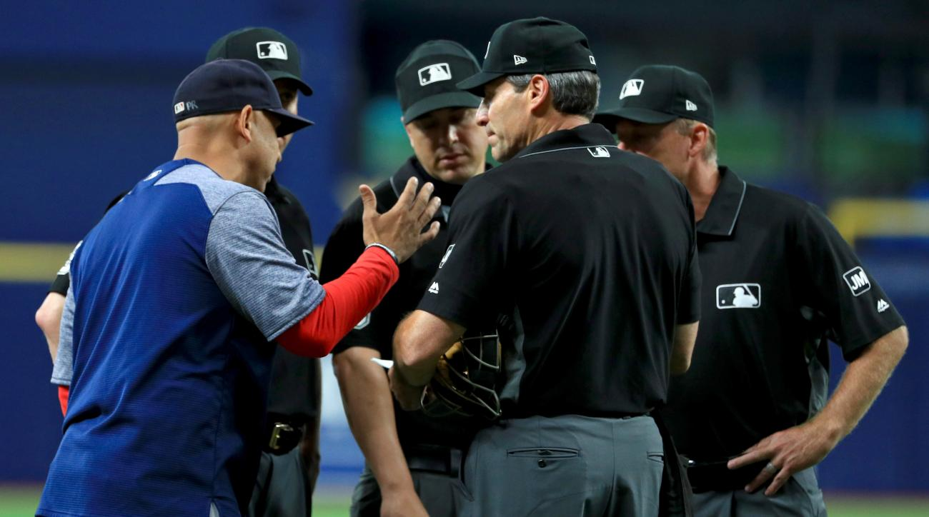 Here's How Angel Hernandez Explained Red Sox-Rays Debacle To Pool Reporter