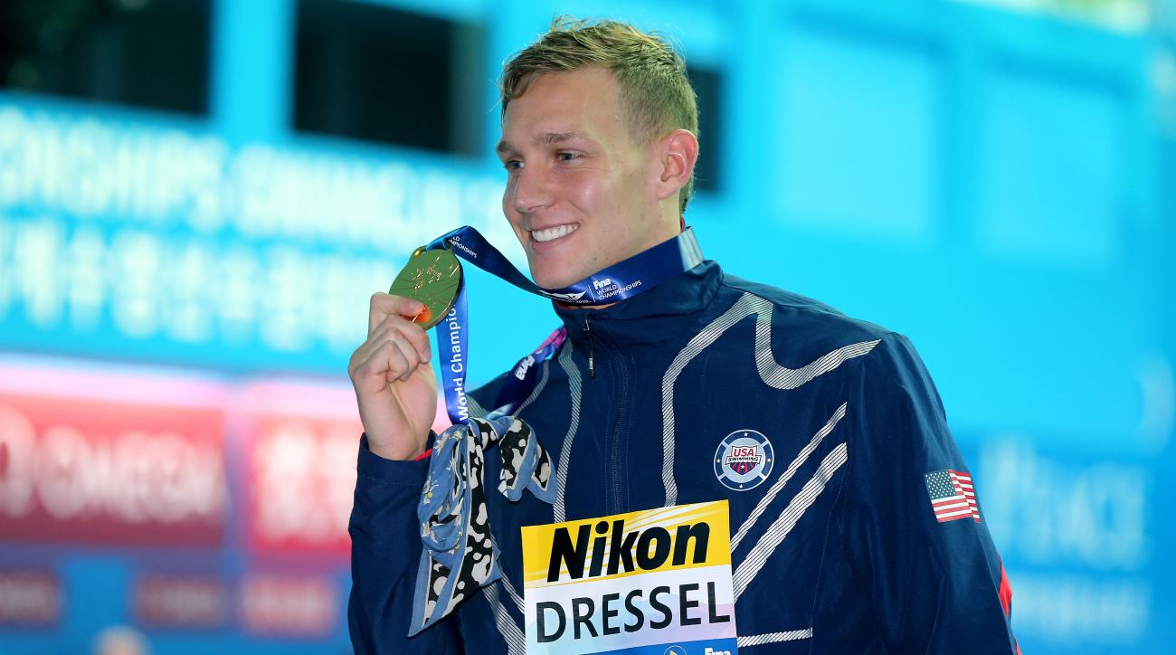 Caeleb Dressel wins record 8th medal at worlds