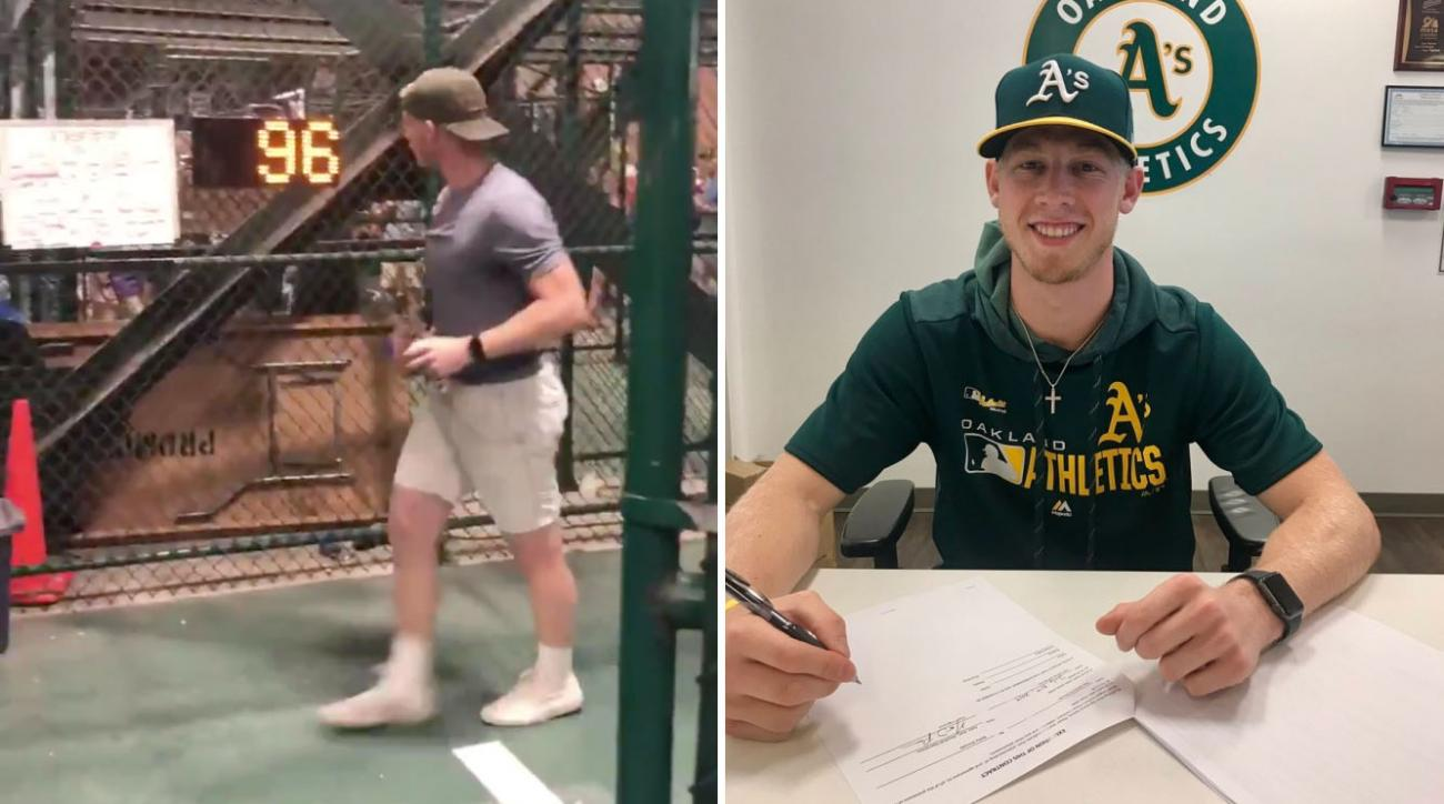 Nathan Patterson: Oakland A's sign pitcher who hit 96 on radar gun
