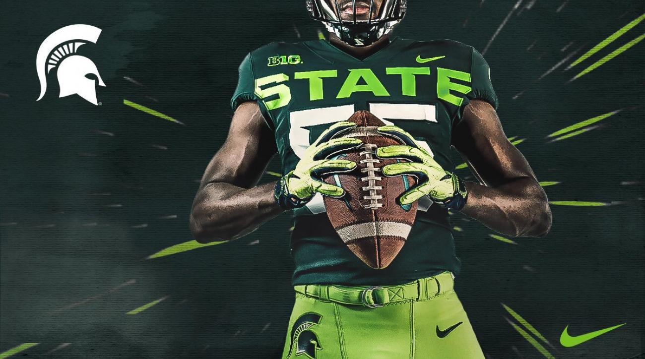Michigan State's neon alternate uniforms revealed (photo)