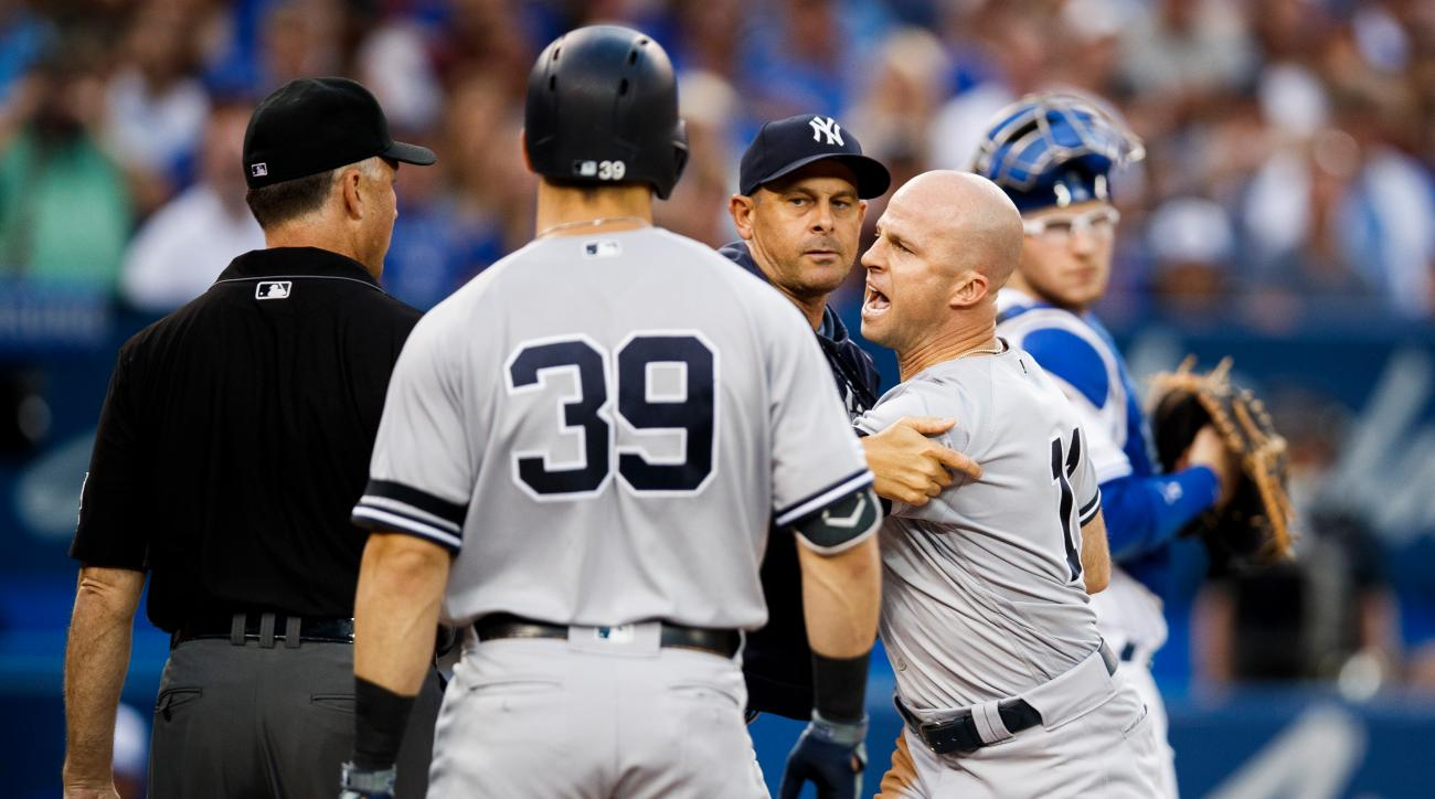 Brett Gardner Ejected Without Saying a Word, Goes Ballistic in Argument With Umpires