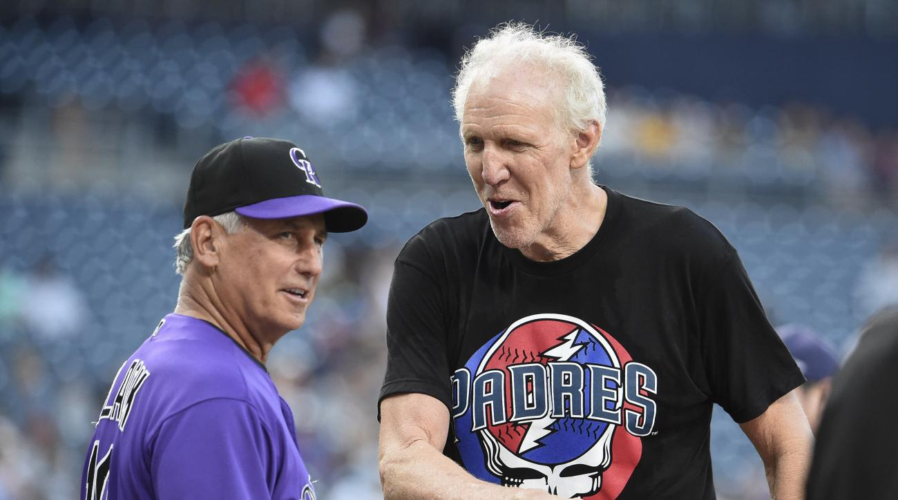 Bill Walton: Padres game delayed by NBA star's chat, first pitch