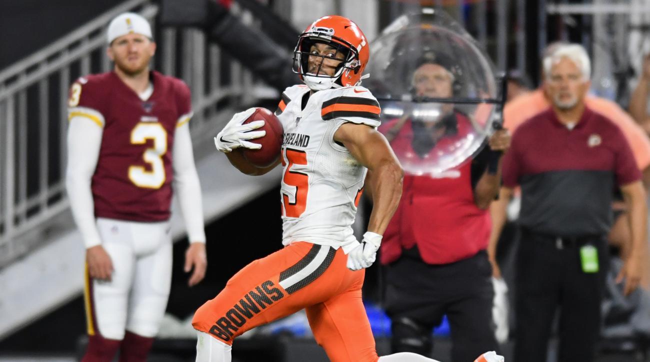 Browns Go Crazy While Mic'd Up Celebrating Damon Sheehy-Guiseppi's Punt Return TD