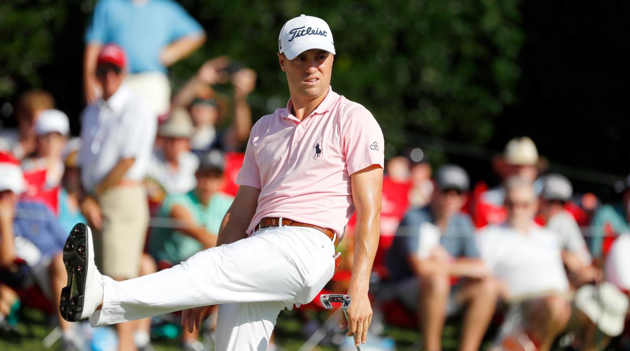 Justin Thomas Loses Cushion, shares lead in Tour Championship