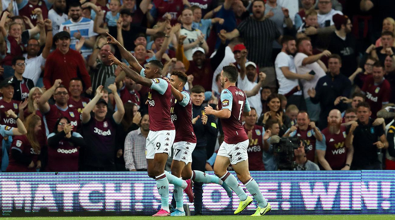 Aston Villa Beats Everton for First Win Since Promotion