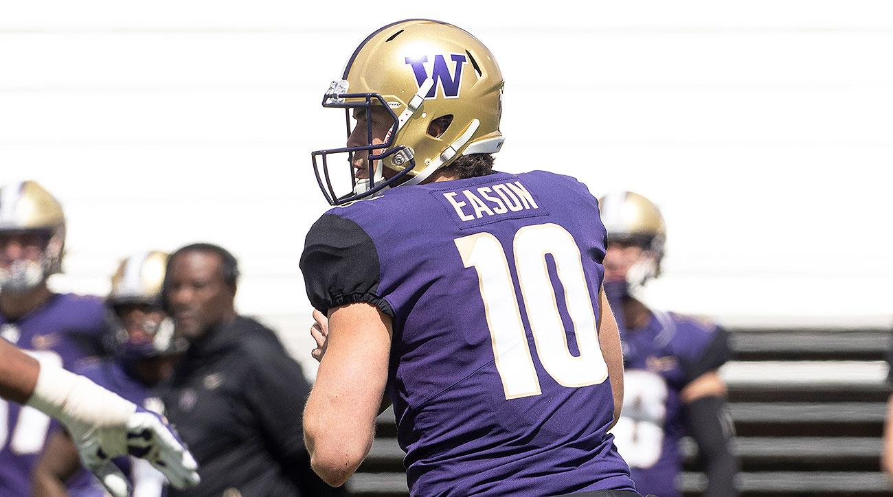 Washington football starting quarterback Jacob Eason