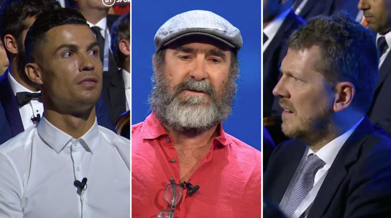 Eric Cantona speech video: Man Utd icon floors UEFA crowd