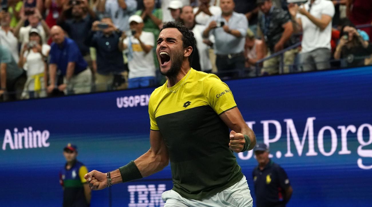 Berrettini Wins Wild Five-Setter Over Monfils to Reach U.S. Open Semis