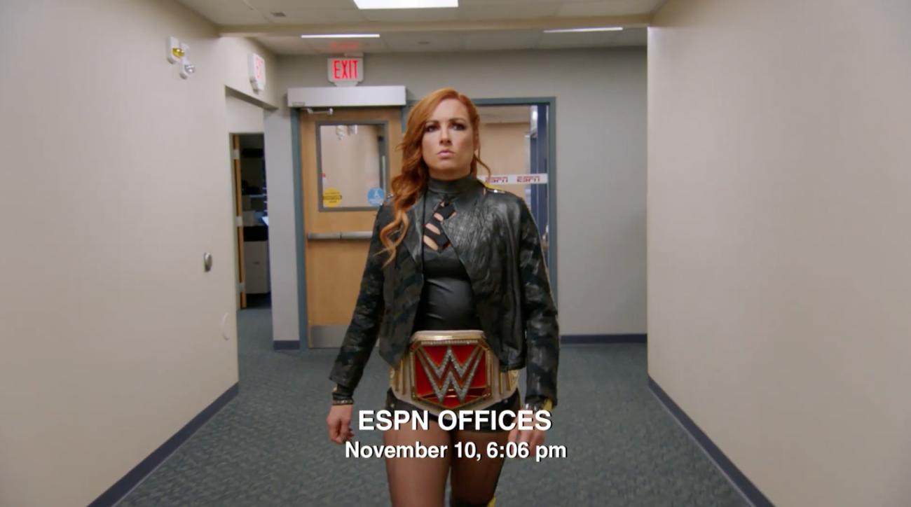 Becky Lynch: WWE star in ESPN This Is Sportscenter