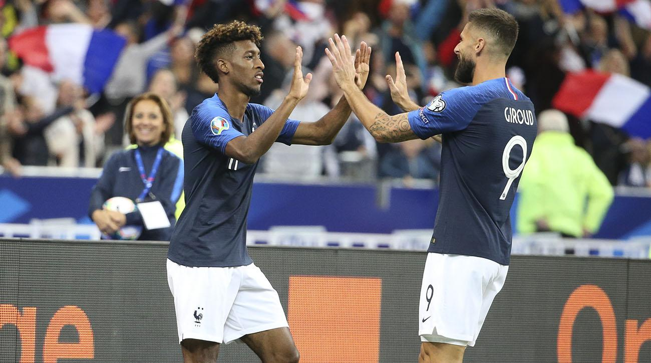 Giroud, Coman Star as France Smashes Albania After Prematch Anthem Mishaps