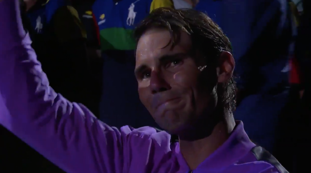 Rafael Nadal Becomes Emotional During Tribute Video After U.S. Open Victory