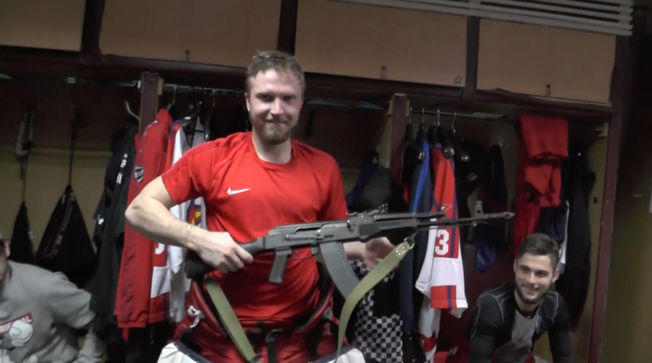 Russian Hockey Team Starts Giving AK-47 to Player of the Game