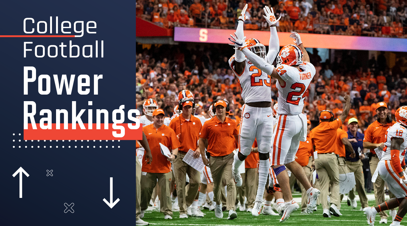 Week 4 College Football Power Rankings: Clemson Further Proves ACC Dominance
