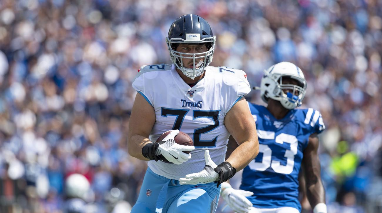 David Quessenberry: Cancer survivor, Titans OL scores touchdown (video)