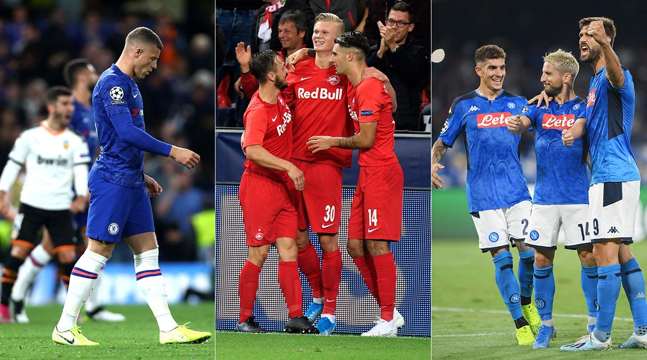 Chelsea falls, while Salzburg and Napoli win on opening day of the Champions League