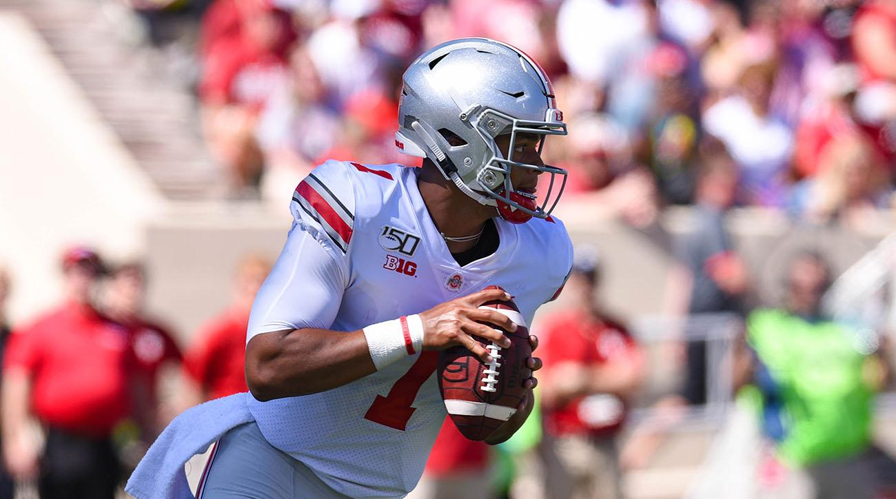 Ohio State QB Justin Fields Totals Six Touchdowns in One Quarter vs. Miami (OH)