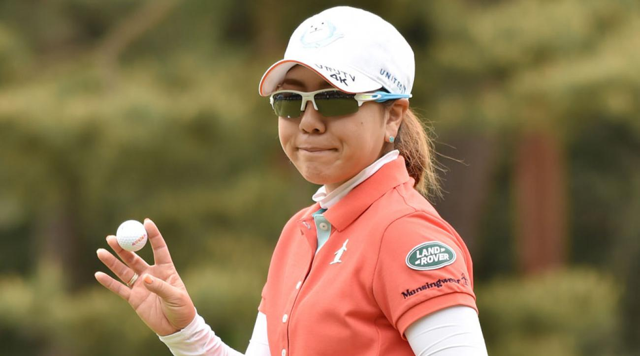 Mika Miyazato birdied five holes in a six-hole stretch to take the early lead.