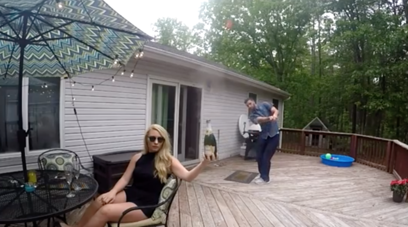 Opening a bottle of champagne is easy. Doing so with a golf ball is much more difficult.
