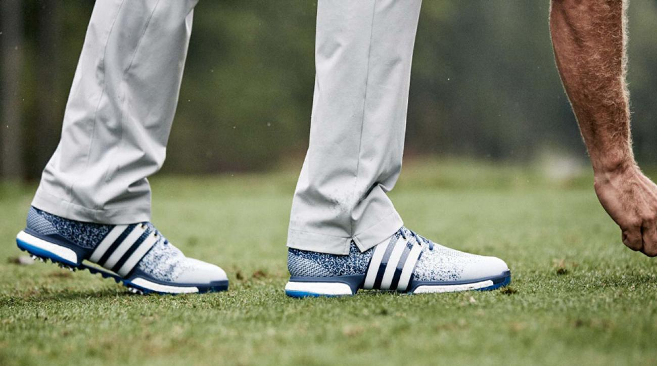 The new Adidas TOUR360 Prime Boost golf shoes in action.