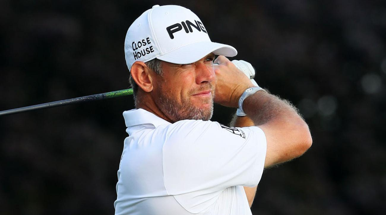 Lee Westwood holed out for eagle on the par-4 14th on Thursday.