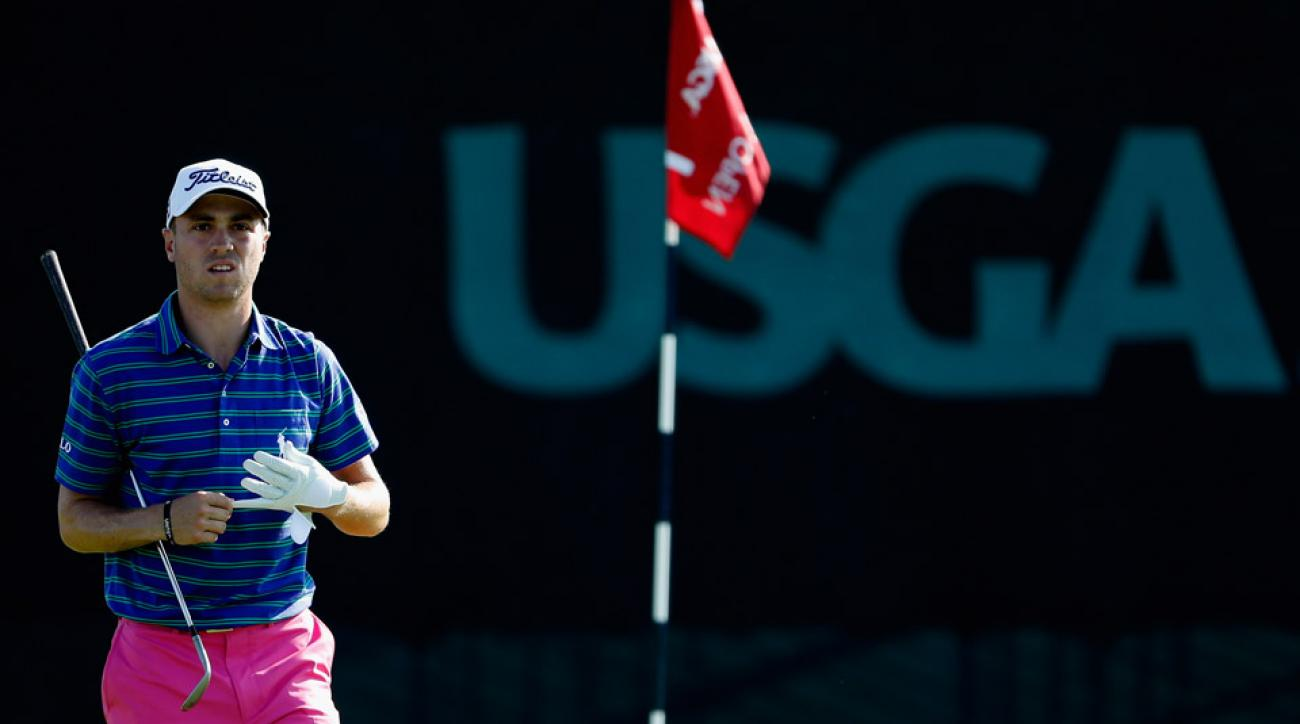 Justin Thomas Friday during his second round at the 2016 U.S. Open.