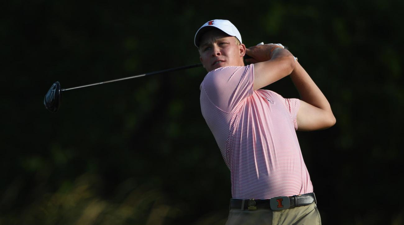 Nick Hardy during his second round on Saturday at the 2016 U.S. Open.