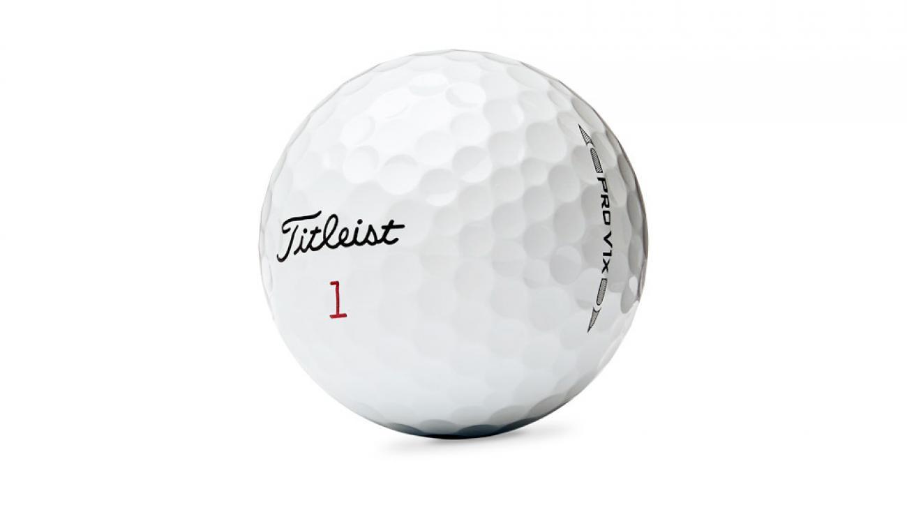 Titleist's popular Pro V1x golf ball.