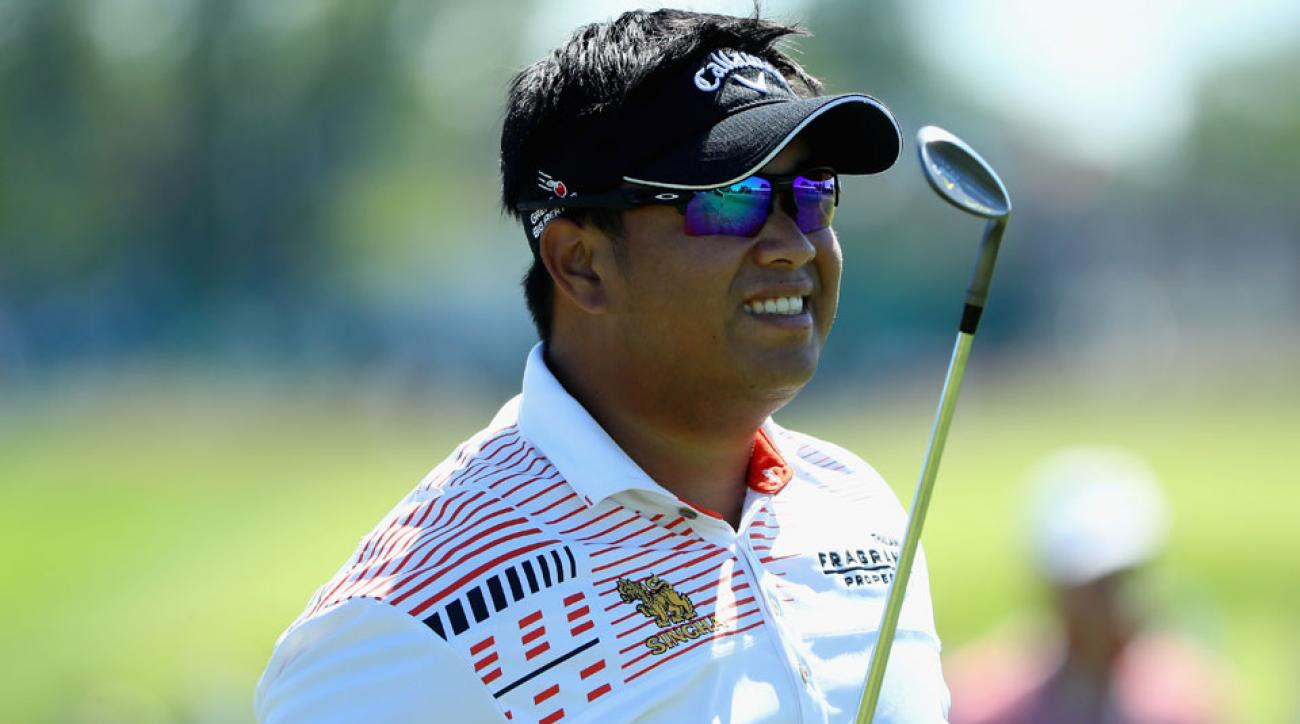 Kiradech Aphibarnrat dropped seven birdies and an eagle on Friday.