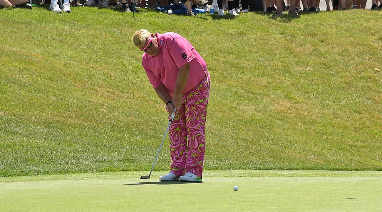 John Daly doesn't look like most golfers when he's on the course, and a new putting style makes it even more pronounced.