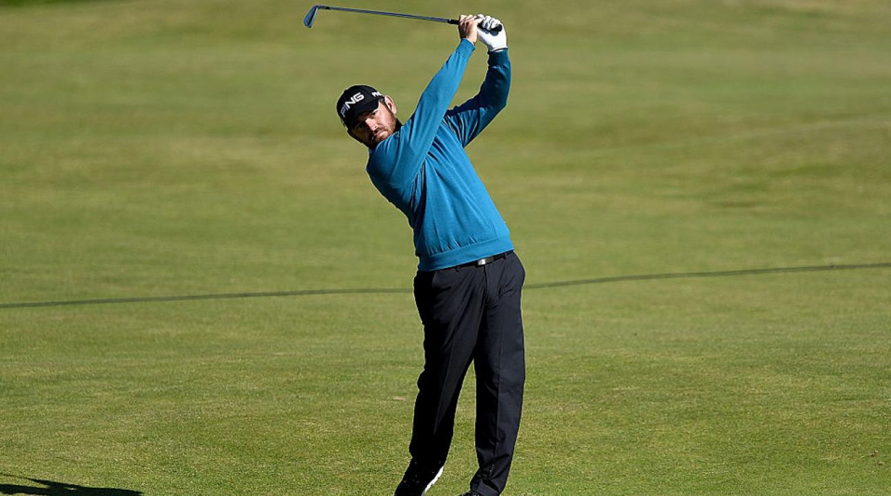 Louis Oosthuizen continued his British Open magic, acing the 167-yard 14th at Royal Troon.