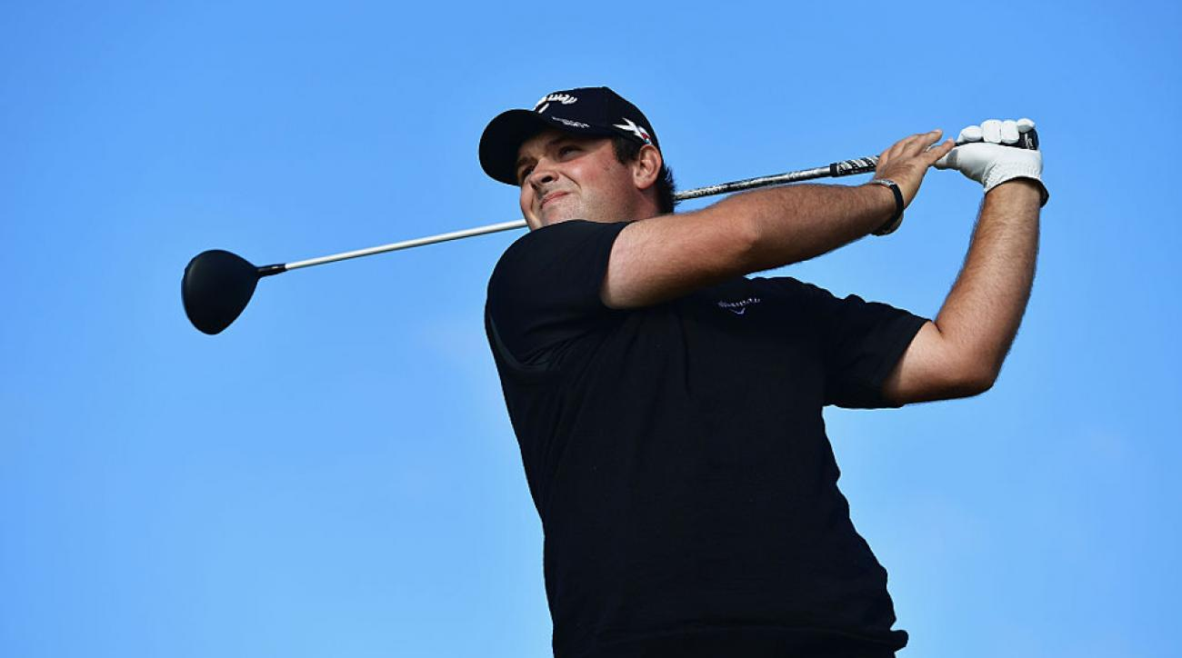 Patrick Reed raced out to a mid-day lead at 5-under during the first round of the British Open.