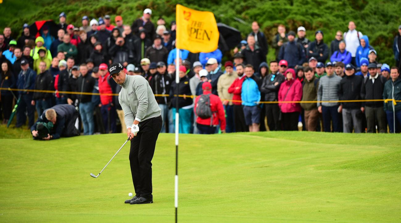 Henrik Stenson leads Phil Mickelson by one shot heading into the final round of the Open Championship at Royal Troon in Scotland.