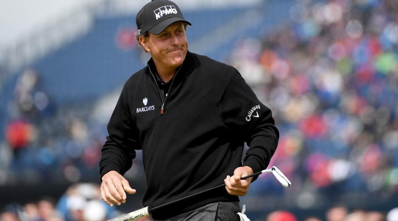 Phil Mickelson on Sunday at the British Open.
